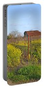 Barn Among The Wild Mustard Portable Battery Charger