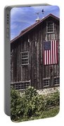 Barn And American Flag Portable Battery Charger