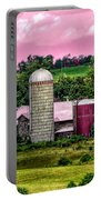 Barn And Silo With Infrared Touch Of Pink Effect Portable Battery Charger