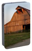 Barn At Early Dawn Portable Battery Charger