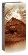 Barn Hocking Co Ohio Sepia Portable Battery Charger
