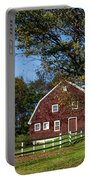 Barn In Autumn Portable Battery Charger