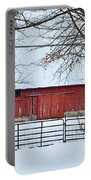 Barn In The Winter Portable Battery Charger