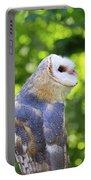 Barn Owl Looking Skyward Portable Battery Charger