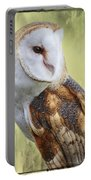 Barn Owl Portrait Portable Battery Charger