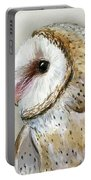 Barn Owl Watercolor Portable Battery Charger