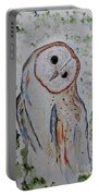 Barn Own Impressionistic Painting Portable Battery Charger