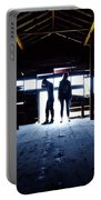 Barn Silhouettes Portable Battery Charger