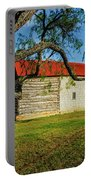 Barn With Red Metal Roof Portable Battery Charger
