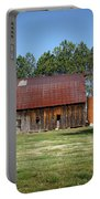 Barn With Tree In Silo Portable Battery Charger