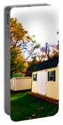 Barns In Autumn Portable Battery Charger
