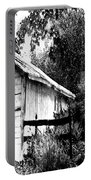 Barns In Black And White Portable Battery Charger