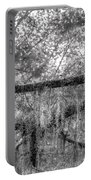 Barred Owl In Monochrome Portable Battery Charger