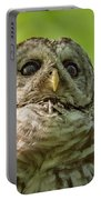 barred Owl Portrait Portable Battery Charger
