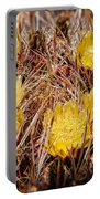 Barrel Cactus Flowers 2 Portable Battery Charger