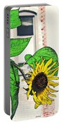 Barrio Sunflower Portable Battery Charger by Sarah Loft