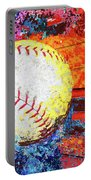 Baseball Art Version 6 Portable Battery Charger
