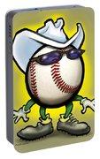 Baseball Cowboy Portable Battery Charger