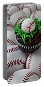 Baseball Cupcake Portable Battery Charger by Garry Gay