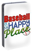 Baseball Is My Happy Place Portable Battery Charger