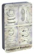 Baseball Patent History Portable Battery Charger