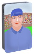 Baseball Star Portrait Portable Battery Charger