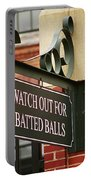 Baseball Warning Portable Battery Charger