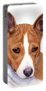 Basenji Sweetness Watercolor Portable Battery Charger