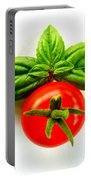 Basil And Cherry Tomato Portable Battery Charger