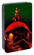 Basilica Of The Little Flower, Dome With Green Sky Portable Battery Charger