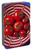 Basket Full Of Red Tomatoes  Portable Battery Charger