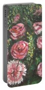 Basket Of Pink Flowers Portable Battery Charger