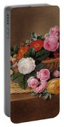 Basket Of Roses Portable Battery Charger