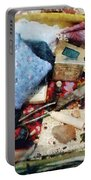 Basket Of Sewing Supplies Portable Battery Charger
