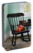 Basket Of Yarn On Rocking Chair Portable Battery Charger