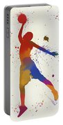 Basketball Player Paint Splatter Portable Battery Charger