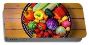 Basketful Of Fresh Vegetables Portable Battery Charger