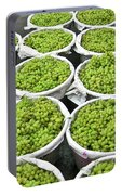 Baskets Of White Grapes Portable Battery Charger