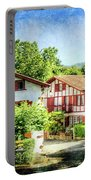 Basque Houses In Ainhoa 2- Vintage Version Portable Battery Charger