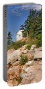 Bass Harbor Lighthouse Mt Desert Island Maine Portable Battery Charger
