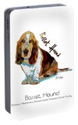Basset Hound Pop Art Portable Battery Charger