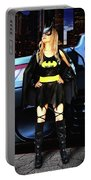 Bat Gal In The City Portable Battery Charger