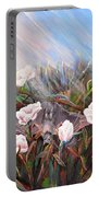 Bat In Rose Bush Portable Battery Charger