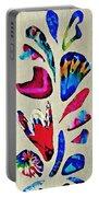 Batik Bouquet Portable Battery Charger