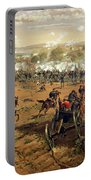 Battle Of Gettysburg Portable Battery Charger by Thure de Thulstrup