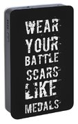 Battle Scars - For Men Portable Battery Charger