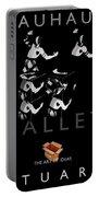 Bauhaus Ballet Black Portable Battery Charger by Charles Stuart