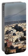 Bay Bridge With Houses And Hills Portable Battery Charger