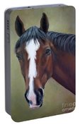 Bay Thoroughbred Horse Portrait Ottb Portable Battery Charger