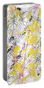 Bumble Bees Against The Windshield - V1cm89 Portable Battery Charger